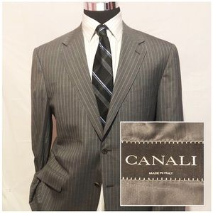 CANALI Men's Wool Blazer Jacket Sports Coat SZ 46R